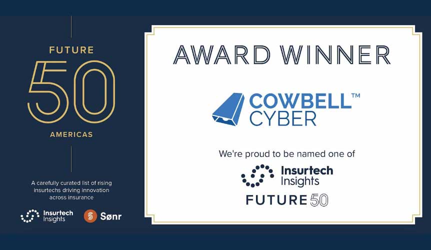 Cowbell Cyber in top 10 Insurtech Insight's Future 50